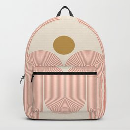 Abstraction_SUN_LINE_ART_Minimalism_001 Backpack
