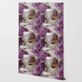 Worker Bee on Mexican Sage Wallpaper