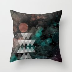 Urban Summer Throw Pillow