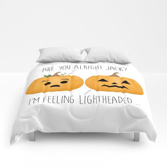 Lightheaded Jack-O-Lantern Comforters