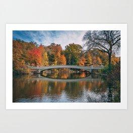 Bow Bridge Autumn 02 Art Print