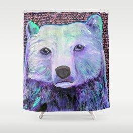 Wild Side Bear Shower Curtain