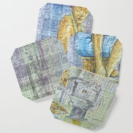In the Kitchen / Traditional Kitchen / African Art Coaster