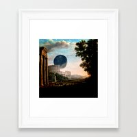 death star Framed Art Prints featuring Death Star by DIVIDUS