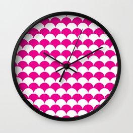 Pink Clamshell Pattern Wall Clock