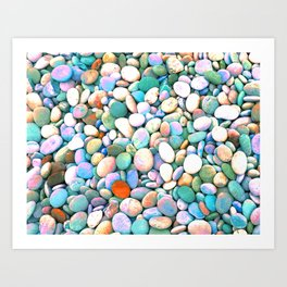 PEBBLES ON THE BEACH Art Print