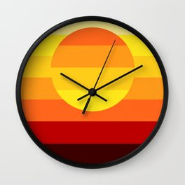 Sunset Stripe Wall Clock