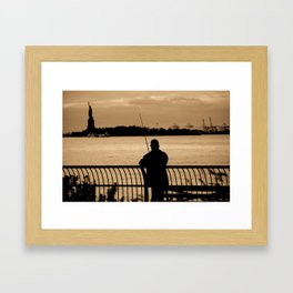 NYC fishing Framed Art Print