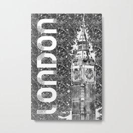 Graphic Art LONDON Big Ben Metal Print