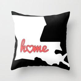 Louisiana Is My Home USA State Pride Throw Pillow