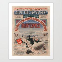 Vintage poster - Orient Express Art Print