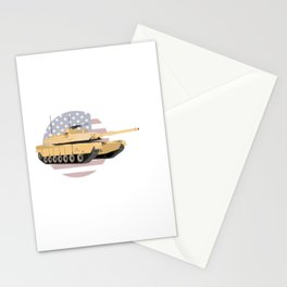 M1A1 Abrams Tank with American Flag Stationery Cards