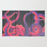 kraken Area & Throw Rugs featuring Kustom Kraken by Aries Art