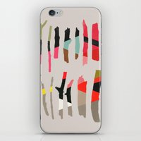 camus iPhone & iPod Skins featuring painted twigs 1 by Garima Dhawan