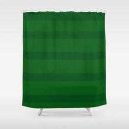 Emerald Green Organic Stripes Shower Curtain