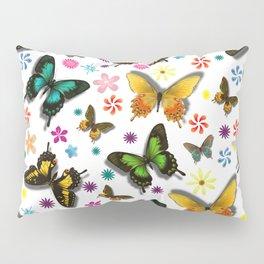 Flying Butterflies Pillow Sham