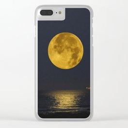 A Summer Full Moon Clear iPhone Case