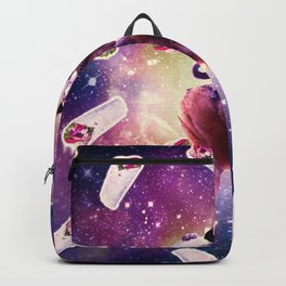 Cowboy Space Cat On Wolf Unicorn - Burrito Backpack