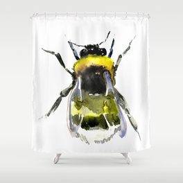 Bumblebee, bee artwork, bee design minimalist honey making design Shower Curtain