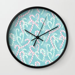 Frosty Canes Wall Clock