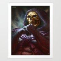 skeletor Art Prints featuring Skeletor by ImmarArt