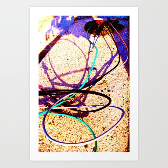 Down to the Wire Art Print