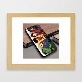 1D One Direction comic superhero movies custom iPhone 6s case Framed Art Print