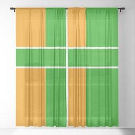 Team Color 6...green,orange Sheer Curtain