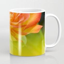 YELLOW ROSES WITH ORANGE TIPS Coffee Mug