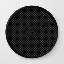 Black and Duffel Bag Polka Dots Wall Clock