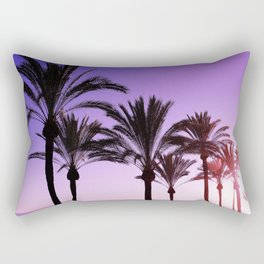 Purple Californian Vibes Palm tree beach photography Rectangular Pillow