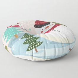 The Sweet Song Of Winter Friends Floor Pillow