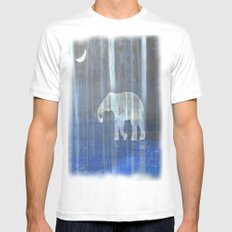 Moonlight with elephant Mens Fitted Tee White MEDIUM