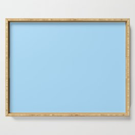 Solid Pale Light Blue Color Serving Tray