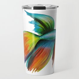 Beautiful Colourful Guppy Fish. Watercolour Painting. Travel Mug
