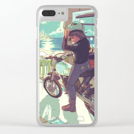 Beach Bike Clear iPhone Case