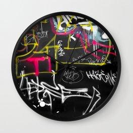 New York Traces - Urban Graffiti Wall Clock