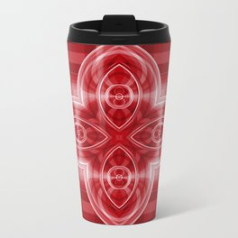 Pattern red Metal Travel Mug