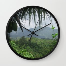 Puerto Rico Scenery Wall Clock