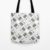 gameboy Tote Bags featuring gameboy by Λdd1x7