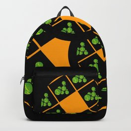 Orange and Green Spaces 110 Backpack