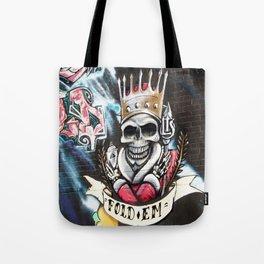 Las Vegas Skull Graffiti Tote Bag