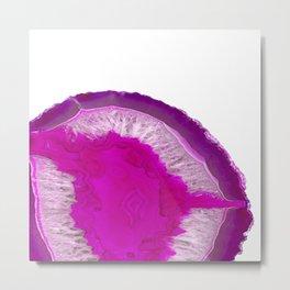 Agate Pink Purple Metal Print