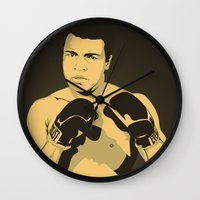 ali Wall Clocks featuring Ali by Renan Lacerda