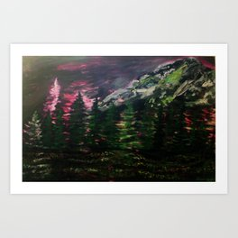 Mount Rainier Pacific Northwest Landscape Art Print | Evergreen State | Washington | Mountain Art Print
