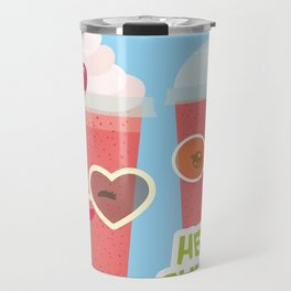 Hello Summer Kawaii cherry smoothie Travel Mug