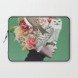 Lady with Birds(portrait) 2 Laptop Sleeve