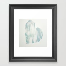 blue, Love Framed Art Print