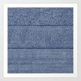 The Rosetta Stone // Navy Blue Art Print