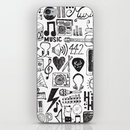 Music Doodles iPhone Skin